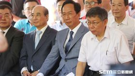 ▲柯文哲、郭台銘、王金平,三人同框「823紀念音樂會」。(圖/資料照)