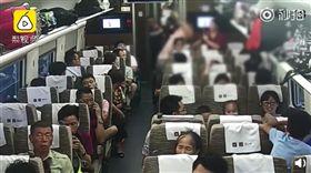 (圖/翻攝自梨視頻)中國,南京,高鐵,讓座,打人