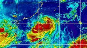白鹿颱風 圖翻攝自台灣颱風資訊中心