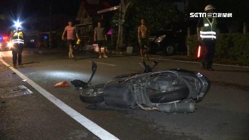 颱風害命!騎士撞電箱噴飛30公尺身亡
