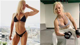 健身可以讓人更健康,也可以讓你看起來更加年輕!澳洲一名63歲的女子萊絲莉(Lesley Maxwell)已經是3個孫子的阿嬤,但她仍熱愛運動、維持良好的體態,儘管已年過半百,身材仍是超越一般年輕女性,不但有超狂的「川字腹肌」,還有充滿肌肉的結實手臂,讓人看了甘拜下風。(圖/翻攝自Lesley IG)