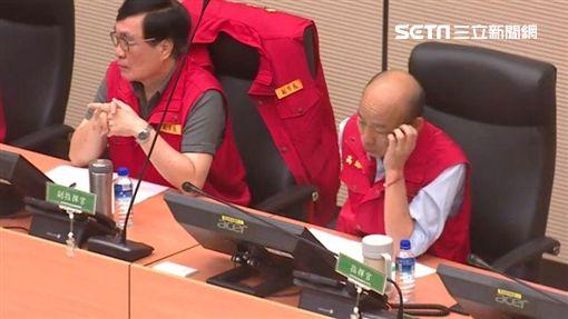 韓國瑜0824防颱應變中心