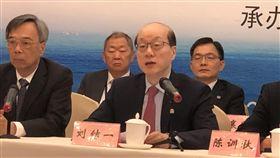 中國國台辦主任劉結一中國國務院台灣事務辦公室主任劉結一22日在天津出席「第8屆兩岸和平發展法學論壇」。(與會者提供)中央社記者繆宗翰北京傳真 108年8月22日