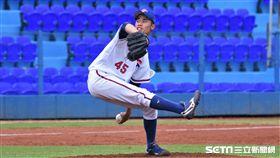 U18中華隊「龍捲風」左投林昱珉。(圖/記者王怡翔攝影)
