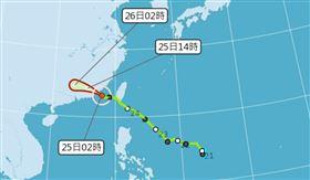 輕颱「白鹿」快閃!最快上半天解除海警 金門嚴防強風豪雨 圖中央氣象局