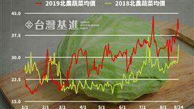 菜價,吳音寧 圖/翻攝自台灣基進臉書