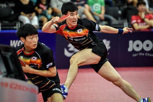 ▲南韓雙打組合。(圖/取自ITTF)