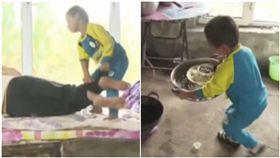 父母離婚後失蹤!5歲男童獨自照顧癱瘓爺(圖/翻攝自看看新聞)