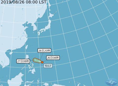 台灣颱風論壇|天氣特急,颱風,楊柳颱風,楊柳,吳德榮,熱帶性低氣壓