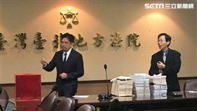 私菸案偵結,移審台北地方法院,北院公開抽出負責審理的合議庭。(圖/記者楊佩琪攝)