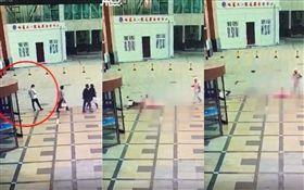 中國大陸,癌末女病患墜樓砸中男子(圖/翻攝自沸點視頻)