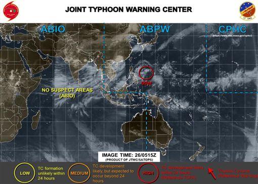 ▲準颱風「楊柳」路徑模擬圖(圖/翻攝自賈新興臉書)