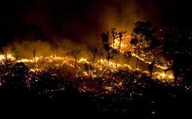 亞馬遜森林大火。(圖/翻攝自推特)