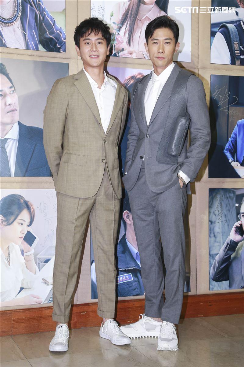 《你那邊怎樣?我這邊ok》首映記者會,劉冠廷、陳炯江。(圖/記者林士傑攝影)