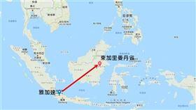 印尼,新首都,森林城市,森林火災,浩劫((圖/Google地圖)
