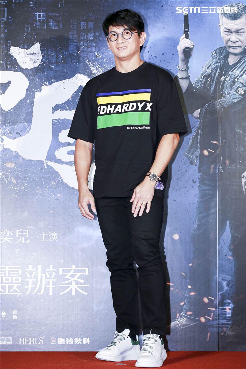 《第九分局》首映會,觀影嘉賓吳奇隆。(圖/記者林士傑攝影)