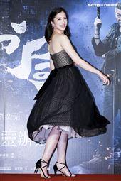 《第九分局》首映會,主演劉奕兒。(圖/記者林士傑攝影)