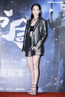 《第九分局》首映會,主演溫貞菱。(圖/記者林士傑攝影)