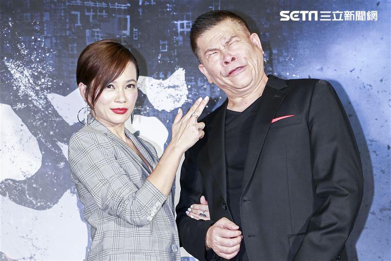 《第九分局》首映會,主演澎恰恰、楊雁雁。(圖/記者林士傑攝影)