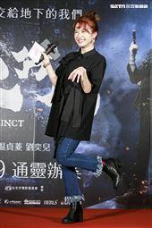 《第九分局》首映會,主持人lulu黃路梓茵。(圖/記者林士傑攝影)
