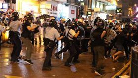 香港,反對修訂逃犯條例,警方,拘捕,依法處理(圖/中央社)