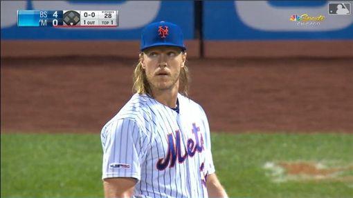 ▲辛德加(Noah Syndergaard)3局挨3轟狂失9分。(圖/翻攝自MLB官網)