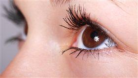 英國,威爾斯,Mandy Liscombe,Mario Saldanha,眼球,眼睛,激光,墨水,畏光(示意圖/pixabay)
