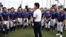 ▲U18日本隊集訓時,國家隊專任監督稻葉篤紀前往鼓勵。(圖/取自日本國家隊官網)