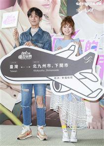 《網紅的瘋狂世界》開拍記者會,主演小樂吳思賢、項婕如。(圖/記者林士傑攝影)