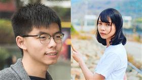 香港眾志成員黃之謙、周庭今(30)日遭港警逮捕。(組合圖/翻攝自黃之謙、周庭臉書)