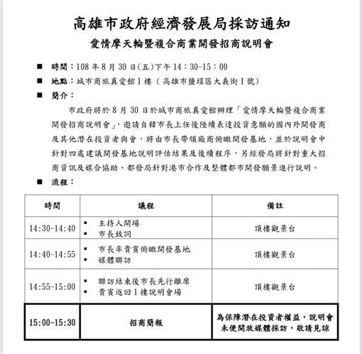 韓國瑜,摩天輪,邱俊憲,招商,說明會