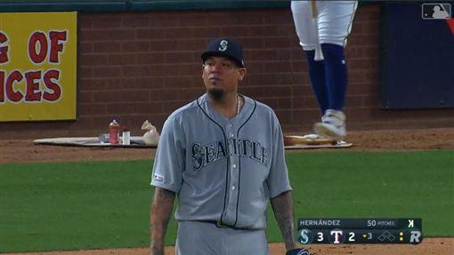 ▲赫南德茲(Felix Hernandez)傷後復出連2場挨轟。(圖/翻攝自MLB官網)
