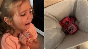 女兒任性丟新鉛筆盒 單親媽教育被13萬人推爆(圖/翻攝自Haley Hassell臉書)