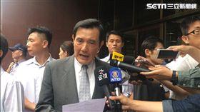 323佔領行政院流血暴力驅離,馬英九離開法院前再提「我無罪」。(圖/記者楊佩琪攝)