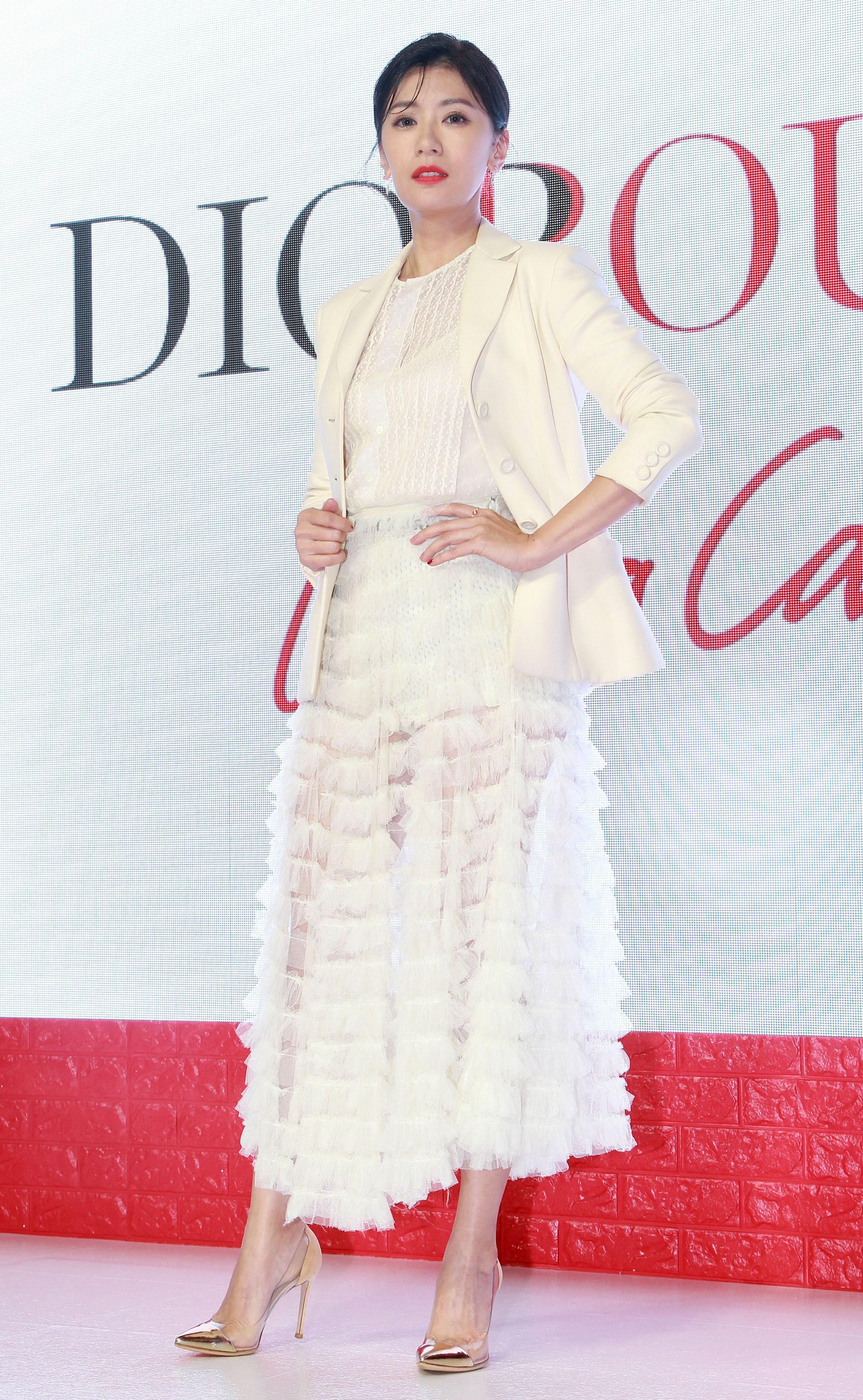 賈靜雯入圍金鐘獎最佳女主角。(記者邱榮吉/攝影)