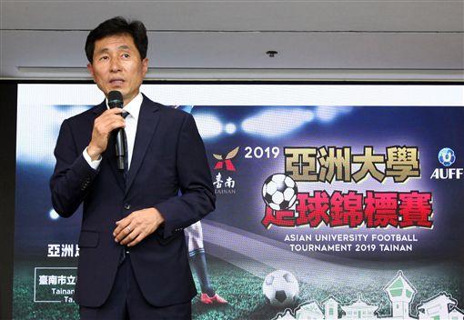 ▲亞洲大學足球聯盟會長卞錫華。(圖/台南市政府體育處提供)