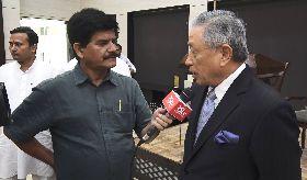 駐印度代表田中光接受印度國會官方電視
