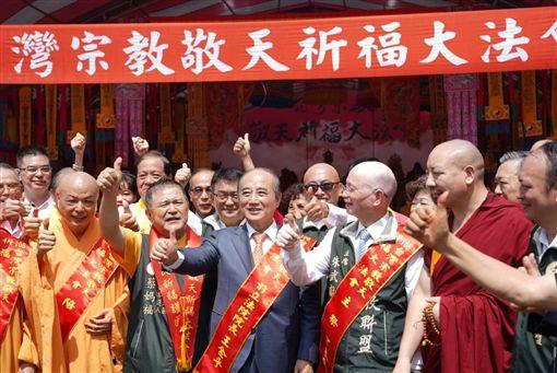 王金平前往台中,出席台灣宗教敬天祈福大法會,王辦提供