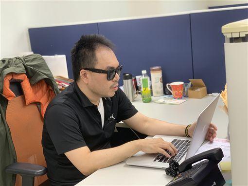 失明博士,甘仲維(記者郭奕均攝影)