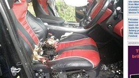 南非,名車,駕駛座,爆炸,炸彈(圖/翻攝自每日郵報)