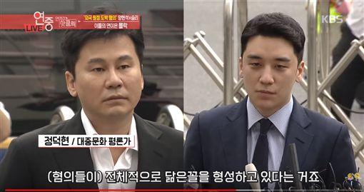 勝利,梁鉉錫,楊賢碩,YG,賭博/翻攝自KBSEntertain YouTube