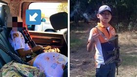 鮮血腦漿噴滿車!16歲少年襲警「斷頭」亡 7殺手全死光(合成圖/翻攝自推特)