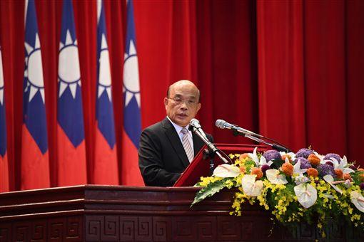 行政院長蘇貞昌1日上午出席中央警察大學慶祝83週年校慶暨開學典禮。(圖/行政院提供)