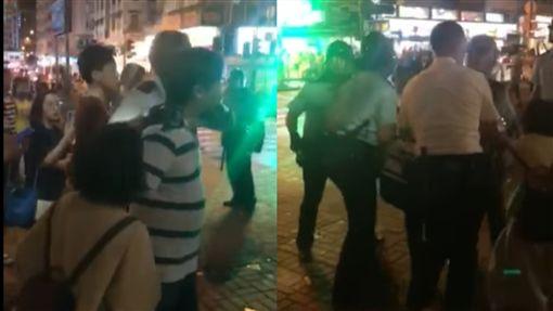 反送中/罵「黑警暴打市民可恥」 議員李世鴻秒被逮補(圖/翻攝自立場新聞臉書)