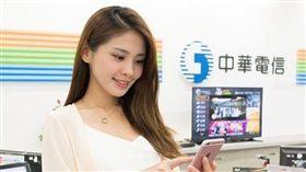 圖/中華電信提供,用手機,月租費,上網吃到飽,電信業