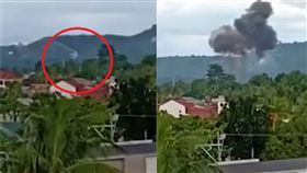 (圖/翻攝自VOA News YouTube)菲律賓,直升機,墜毀