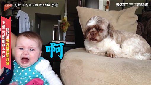 ▲國外有一個寶寶,一直哭哭啼啼、不停吵鬧著。(圖/AP/Jukin Media 授權)