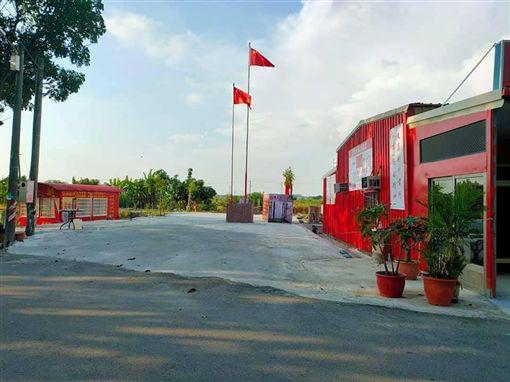台南共產主義「天后宮」升起五星旗(圖/翻攝自王定宇臉書)