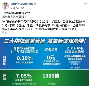 劉世芳臉書發文,臉書