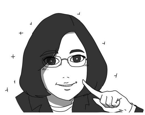 網紅插畫家「人類超有病Baxuan」的Q版小英。(圖/翻攝「人類超有病Baxuan」臉書)
